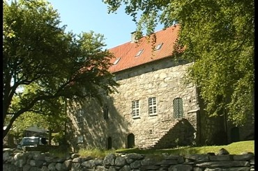 The attractive Medieval Monastery of Utstein