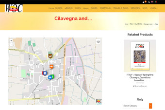 Cilavegna - Local Map with Selectable layers & Popover