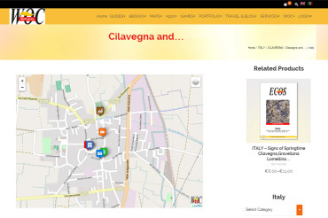 Cilavegna – Local Map with Selectable layers & Popover