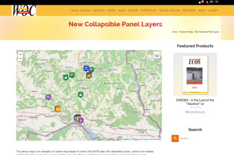 Collapsible Panel Layers & Hover Popup
