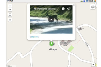 Olimje Map with Video Marker